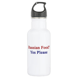 Russian Food Yes Please 532 Ml Water Bottle