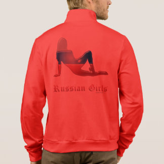 Russian Girl Silhouette Flag Printed Jackets