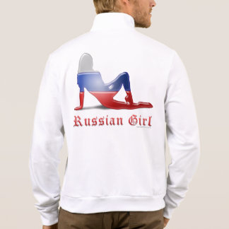 Russian Girl Silhouette Flag Printed Jacket
