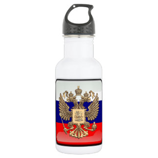 Russian glossy flag 532 ml water bottle