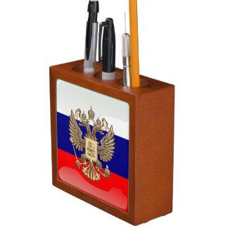Russian glossy flag desk organiser