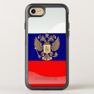 Russian glossy flag OtterBox symmetry iPhone 7 case
