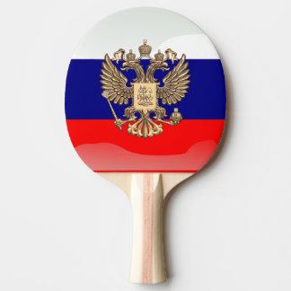 Russian glossy flag ping pong paddle