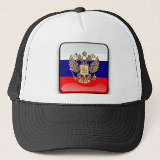 Russian glossy flag trucker hat