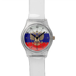 Russian glossy flag watch