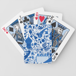 Russian Gzel Pattern Bicycle Playing Cards