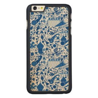Russian Gzel Pattern Carved Maple iPhone 6 Plus Case