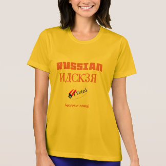 russian hacker i voted halloween funny shirt