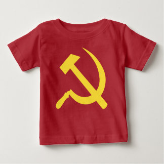Russian Hammer and Sickle Baby Fine Jersey T-Shirt
