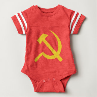 Russian Hammer and Sickle Baby Football Bodysuit
