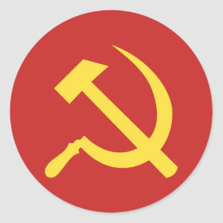 Russian Hammer and Sickle Classic Round Sticker