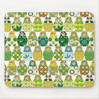 Russian headstock green mouse pad