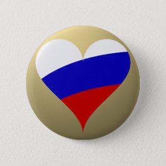 Russian heart 6 cm round badge
