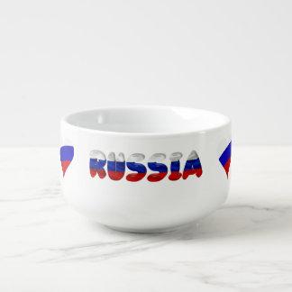 Russian heart flag soup mug