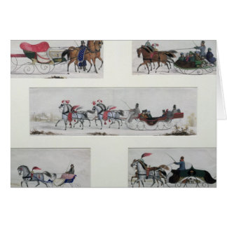 Russian Horse Drawn Sleighs Card