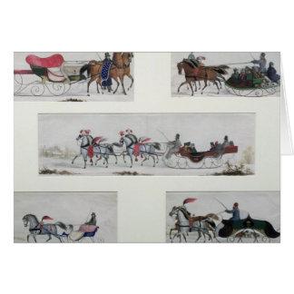Russian Horse Drawn Sleighs Card