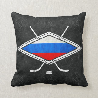 Russian Ice Hockey Flag Cushion
