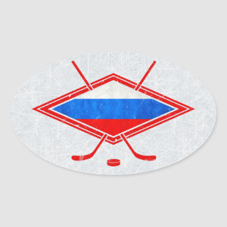 Russian Ice Hockey Flag Stickers
