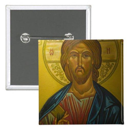 Russian Icon inside Church of St. Sophia / Pinback Button