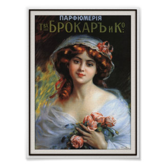 Russian Imperial Perfume Advertising 1892 Poster
