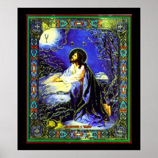 Russian Jesus Nouveau Print
