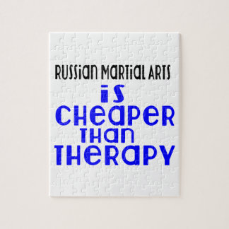 Russian Martial Arts Is Cheaper  Than Therapy Jigsaw Puzzle