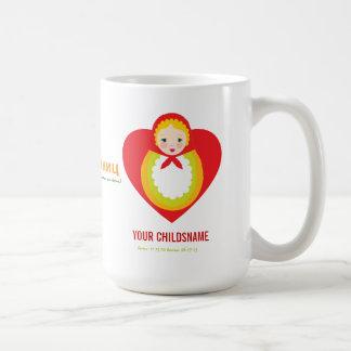 Russian Matroyshka Girl Adoption Gift Coffee Mug