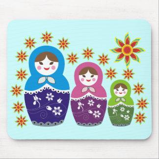 Russian Matryoshka Doll Mousepads. Mouse Pad