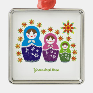 Russian Matryoshka Dolls custom ornament