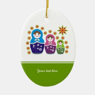 Russian Matryoshka Dolls custom ornament