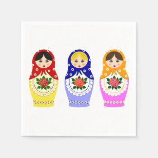Russian matryoshka nesting dolls paper serviettes