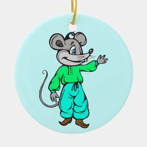 Russian Mouse Christmas Tree Ornament