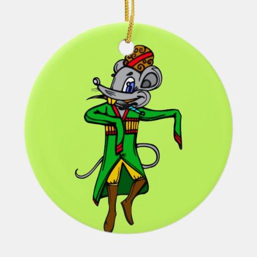 Russian Mouse Mice Ornament