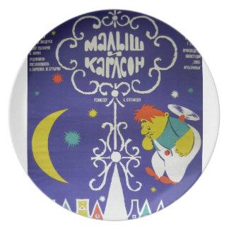 "Russian movieposter ""Malysh i Karlson"" Plate"