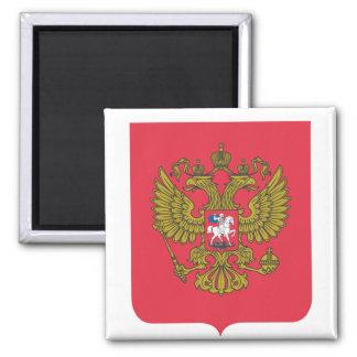 Russian national emblem square magnet