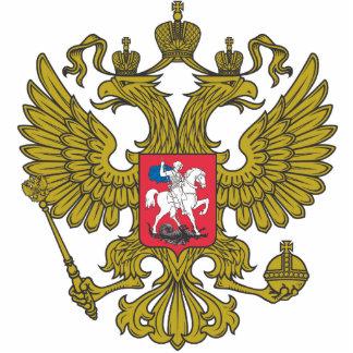 Russian national emblem standing photo sculpture