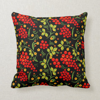 Russian national pattern Hohloma Cushion