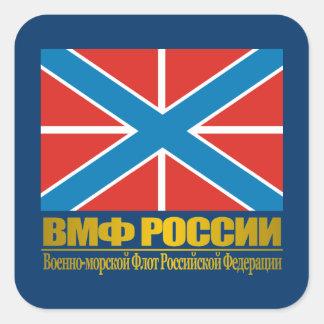"""Russian Navy Jack"" Square Sticker"