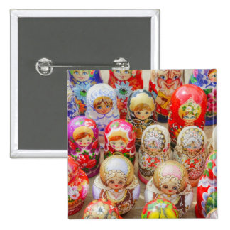 Russian Nested Dolls 15 Cm Square Badge