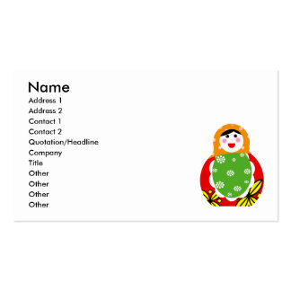 Russian nesting doll business card template