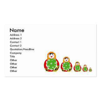 Russian nesting doll business card templates