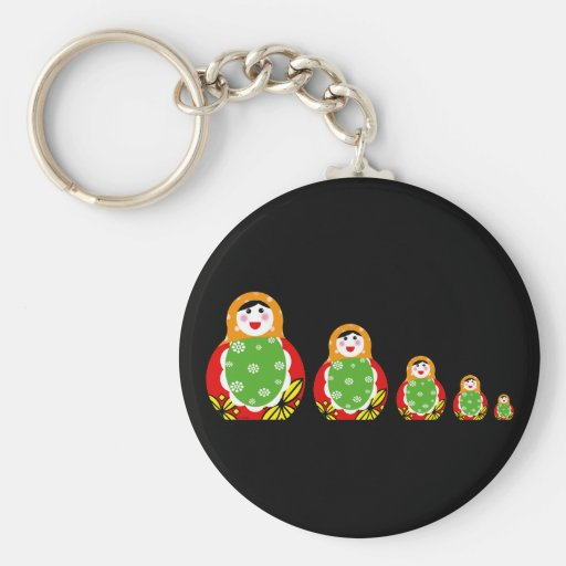 Russian nesting doll keychains