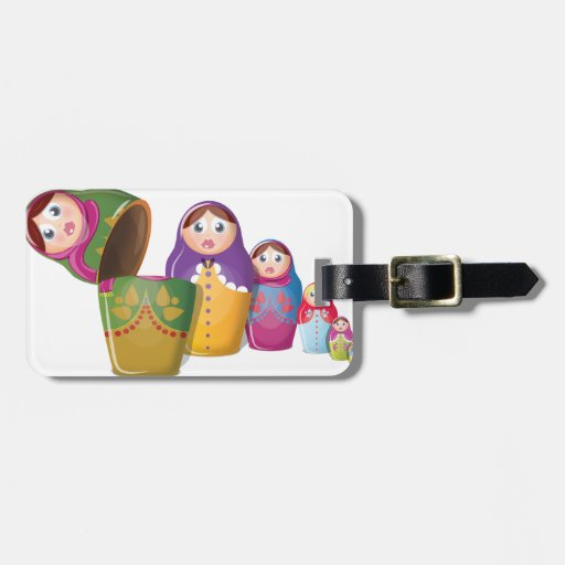 Russian Nesting Dolls Tag For Bags