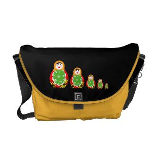 Russian nesting dolls messenger bag