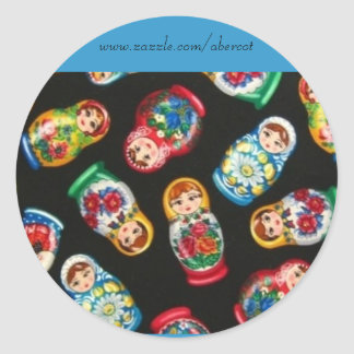 Russian Nesting Dolls Stickers