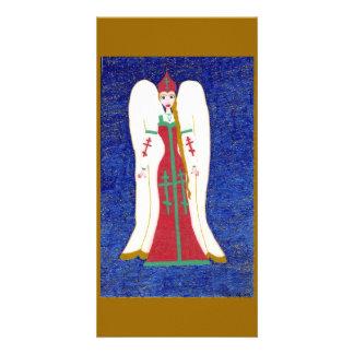 Russian Orthodox Angel Customized Photo Card