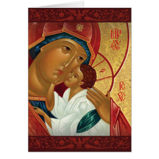 Russian Orthodox Christmas Card - Golden Light