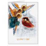 Russian Orthodox Christmas card with Nativity icon
