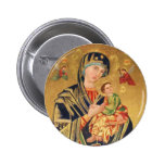 Russian Orthodox Icon - Virgin Mary and baby Jesus 6 Cm Round Badge