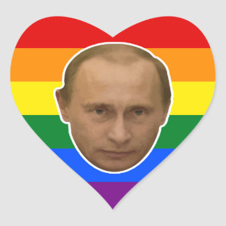 Russian Rainbow - Putin Loves You Heart Sticker